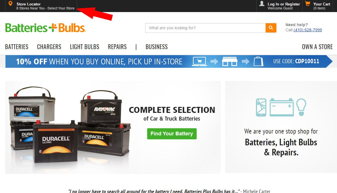 buy car battery online pick up in store
