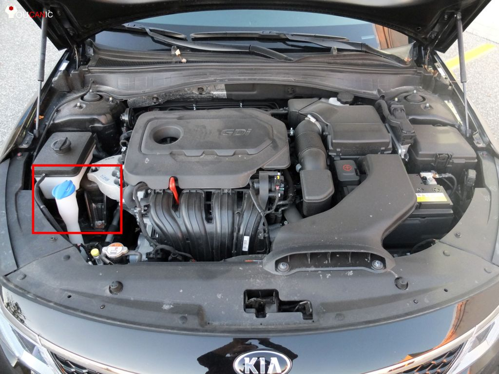how to fill windshield washer fluid reservoir on kia