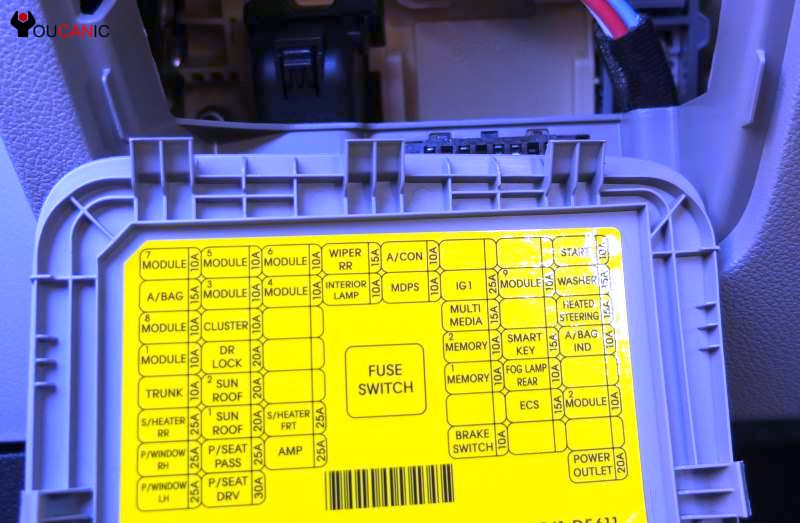 Kia Optima Fuses 2011 2017 Box Location Chart Diagram
