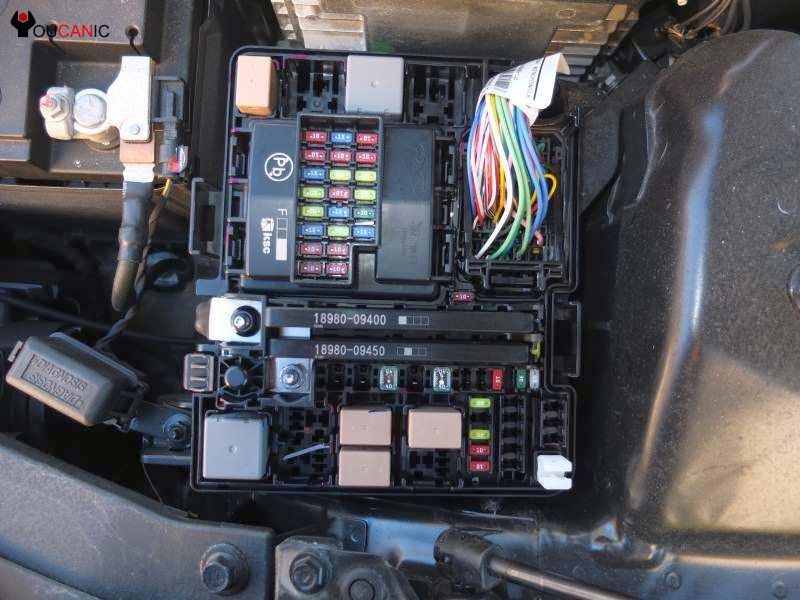fuse box location kia optima