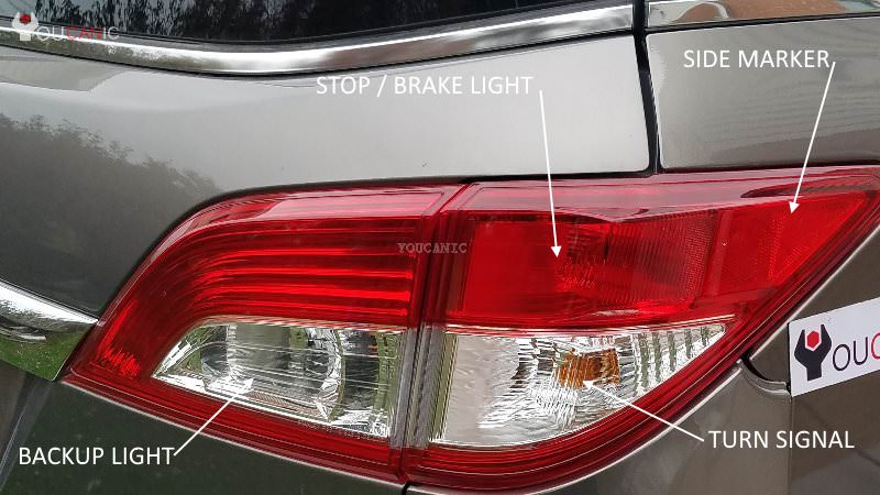 Nissan Quest back up light replace guide diy