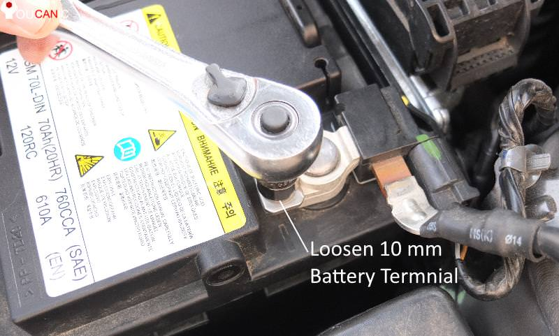 tools needed to replace car battery 10 mm wrench socket