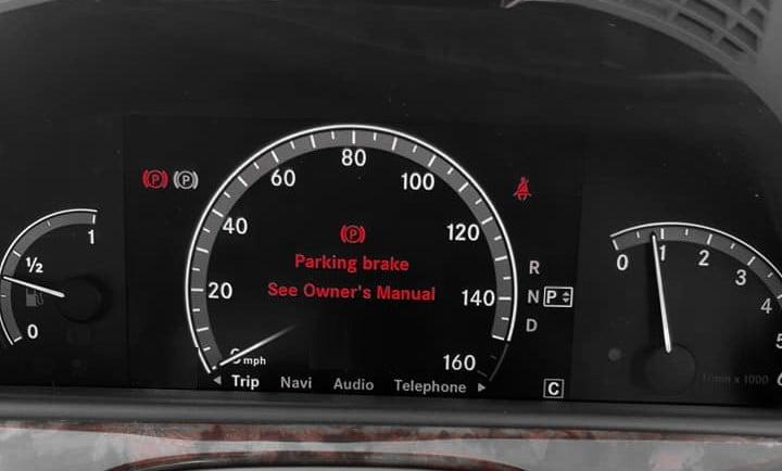 Mercedes Parking Brake See Owners Manual