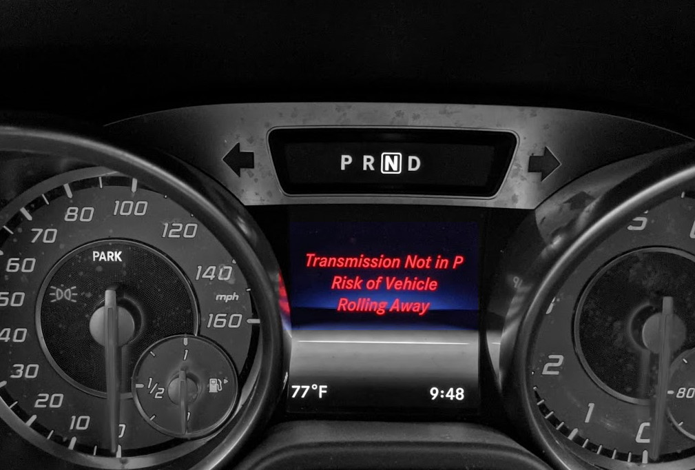 Transmission Not In Park Risk Of Vehicle Rolling Away Mercedes Benz Audi BMW