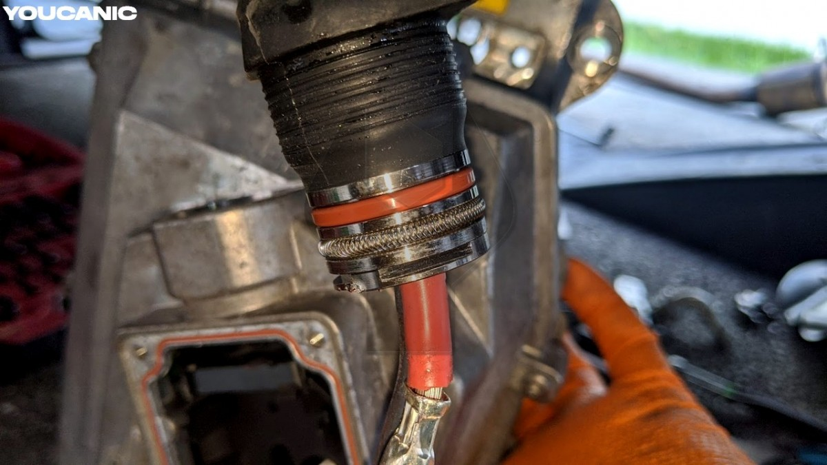 Damaged high voltage cable