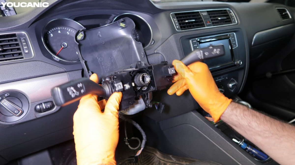 VW combination switch location