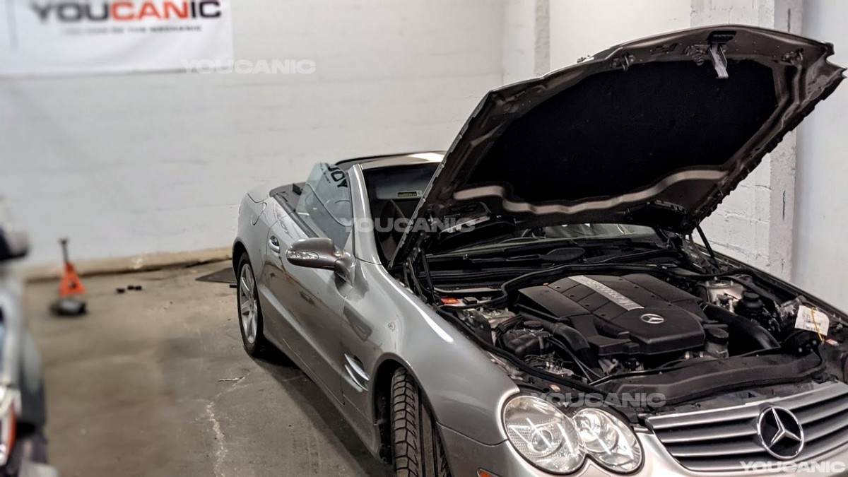 mercedes one corner dropped when parked sl500 s-class abc