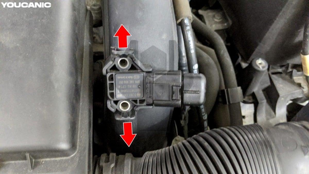 vw turbo charger boost sensor removal jetta golf passat eos cc