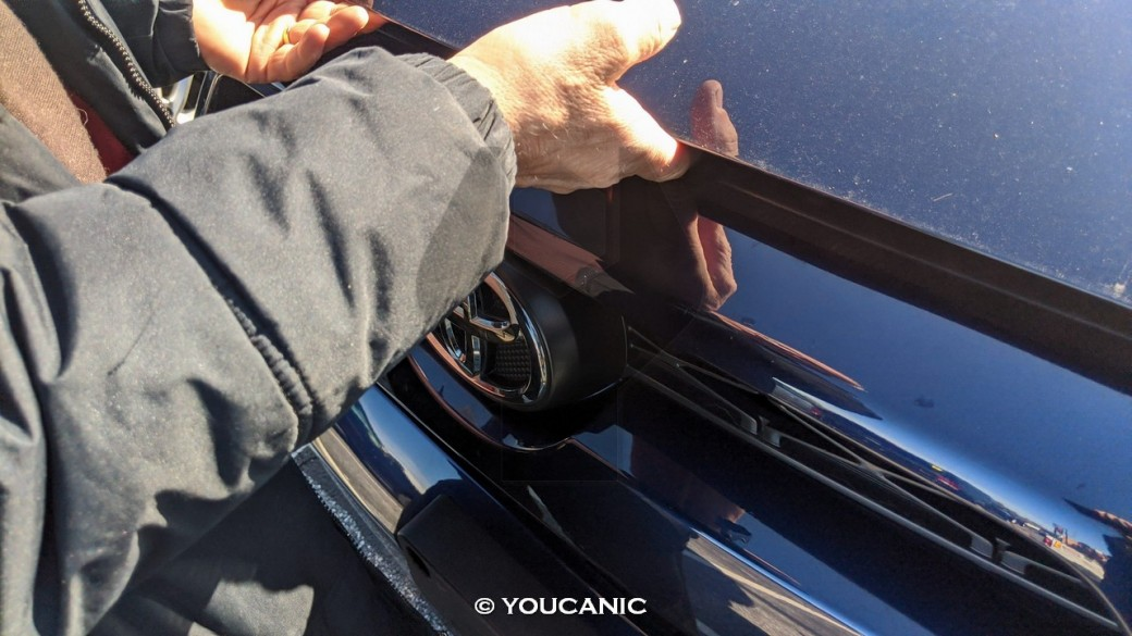 Opening the hood latch