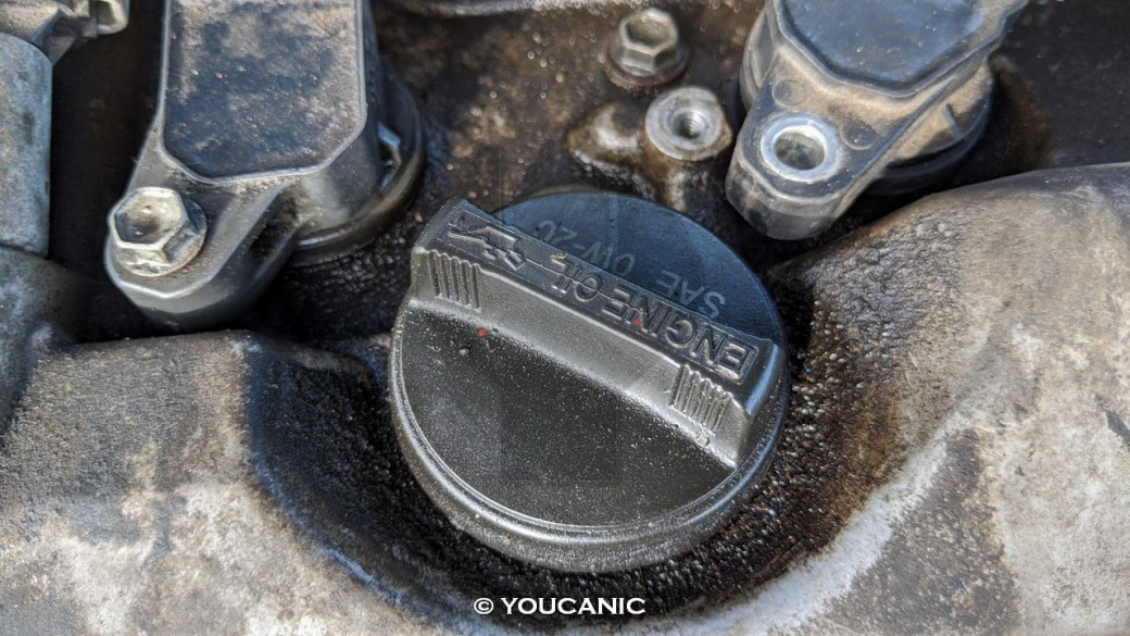 Toyota Camry 2011 engine oil cover