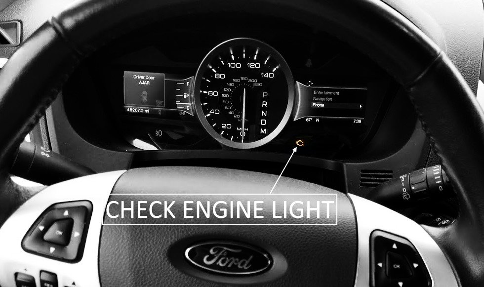 Ford check engine light stays on