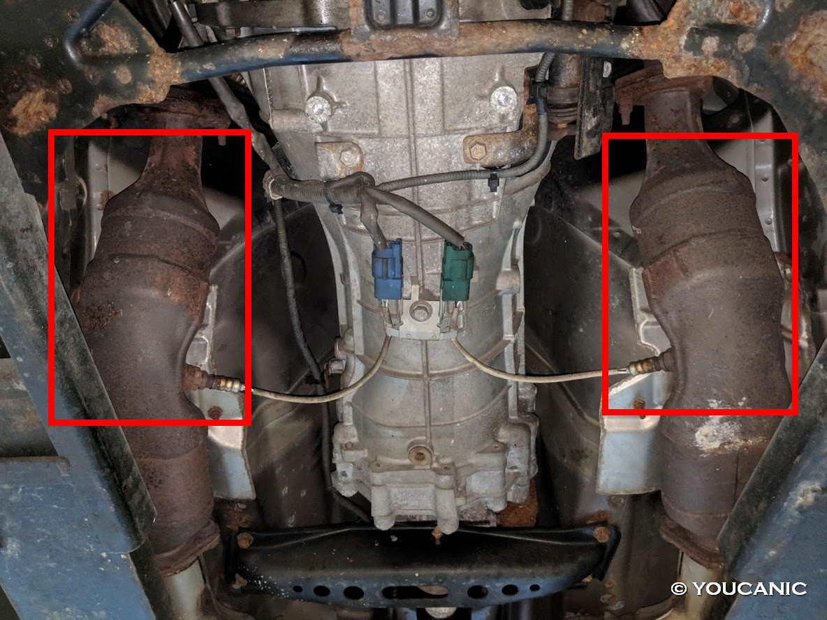 Catalytic conver causes engine missfire