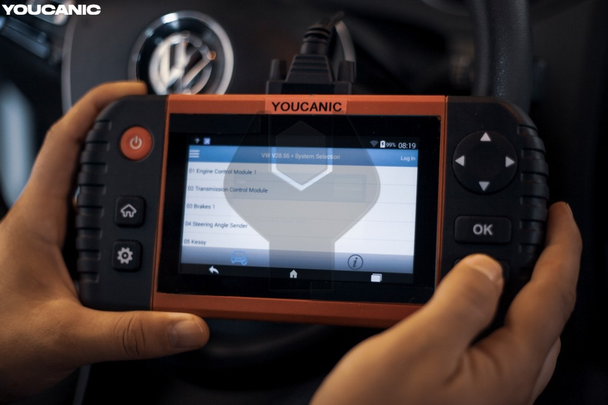 Read transmission fault codes with vw scanner