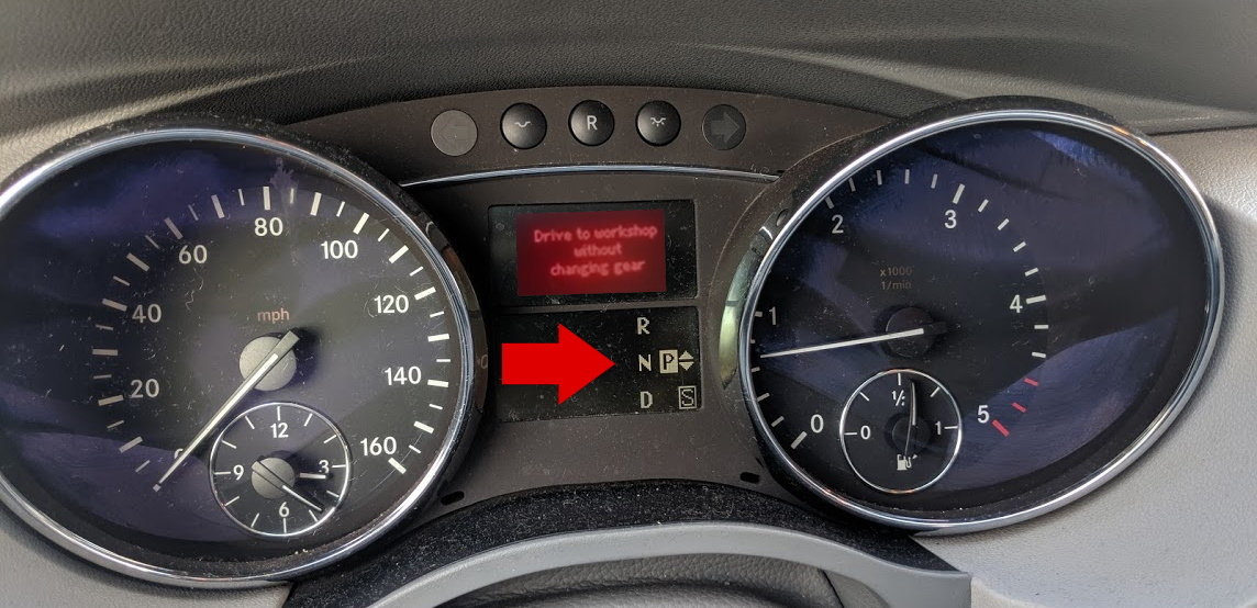 Mercedes dirve to workshop without changing gear