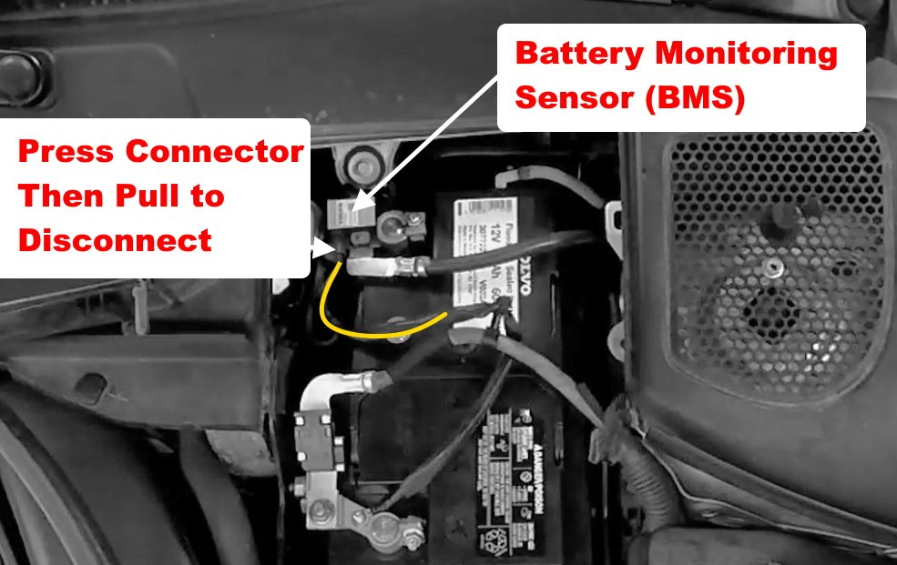 Reset battery low warning on volvo