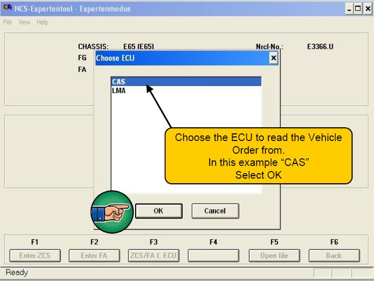 Change VO on a BMW with NCS Expert