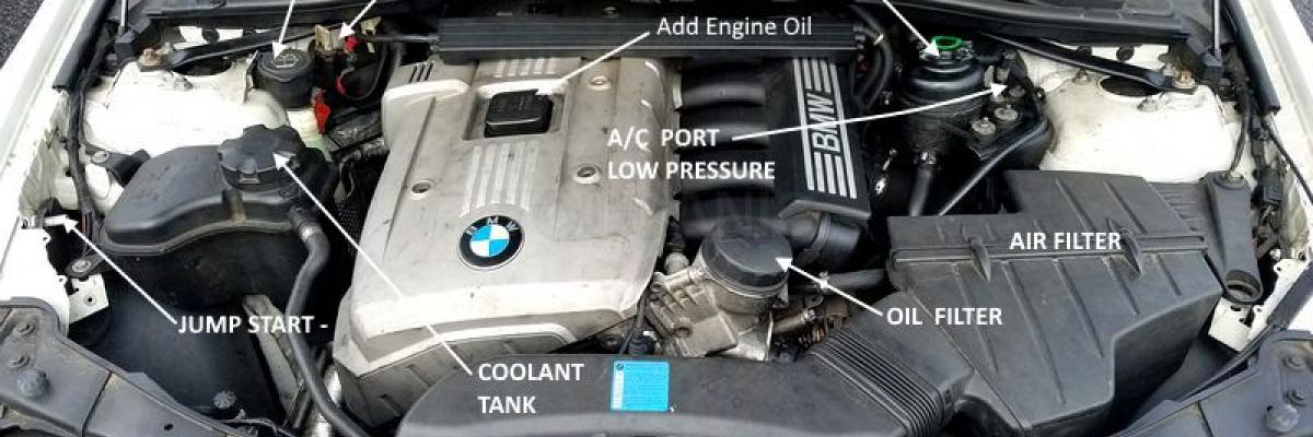 How to change engine air filter on BMW  3-Series 2004-2013