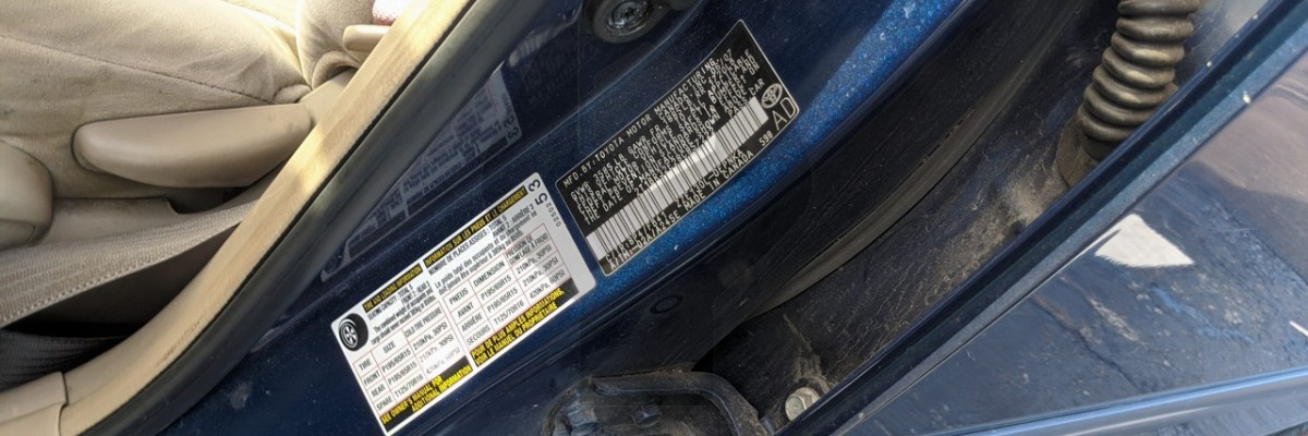 How to tell where a Toyota was made