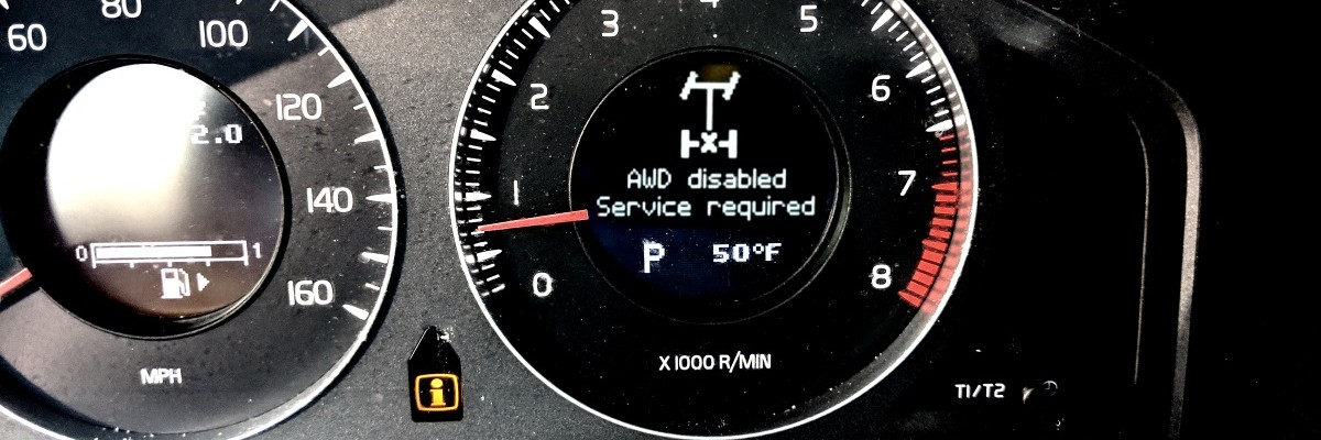 Troubleshooting Volvo AWD Disabled, Service Required