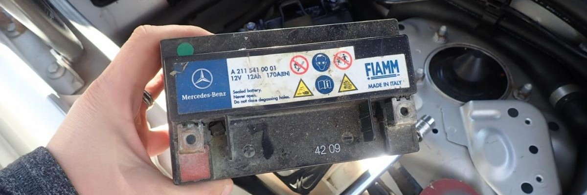 Mercedes-Benz E-Class W211 Auxiliary Battery Replacement