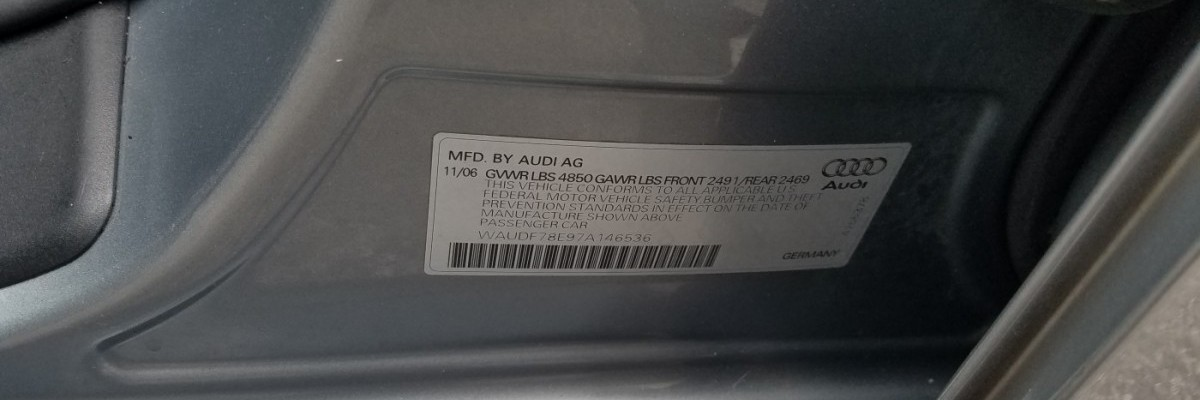 Where to Find Audi VIN Number