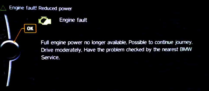 BMW Engine Malfunction Reduced Power