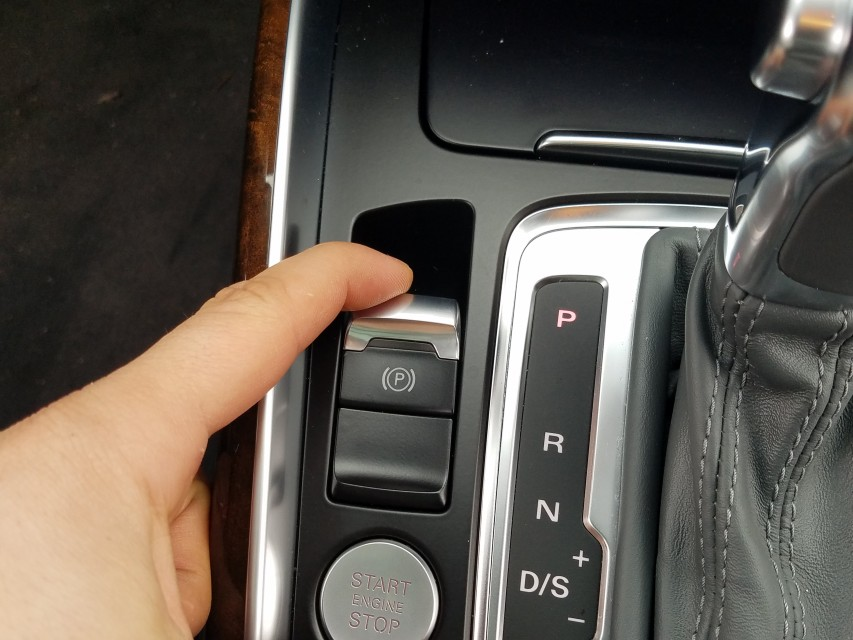 park audi and check washer fluid level add fluid
