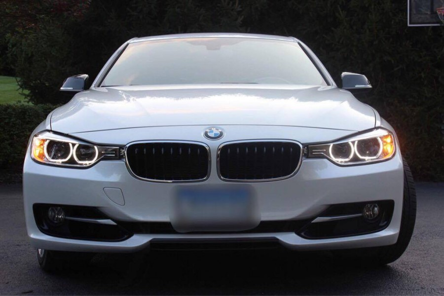 park bmw and install m grill stripe