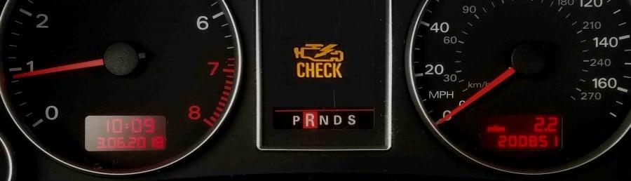 Audi check engine light stays on