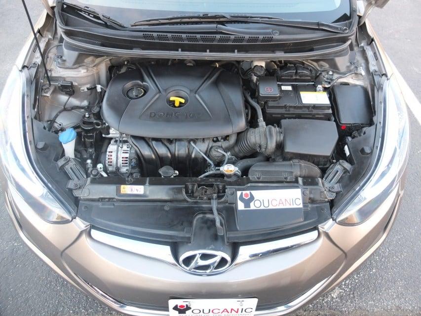 Open hyundai hood and replace the headlight