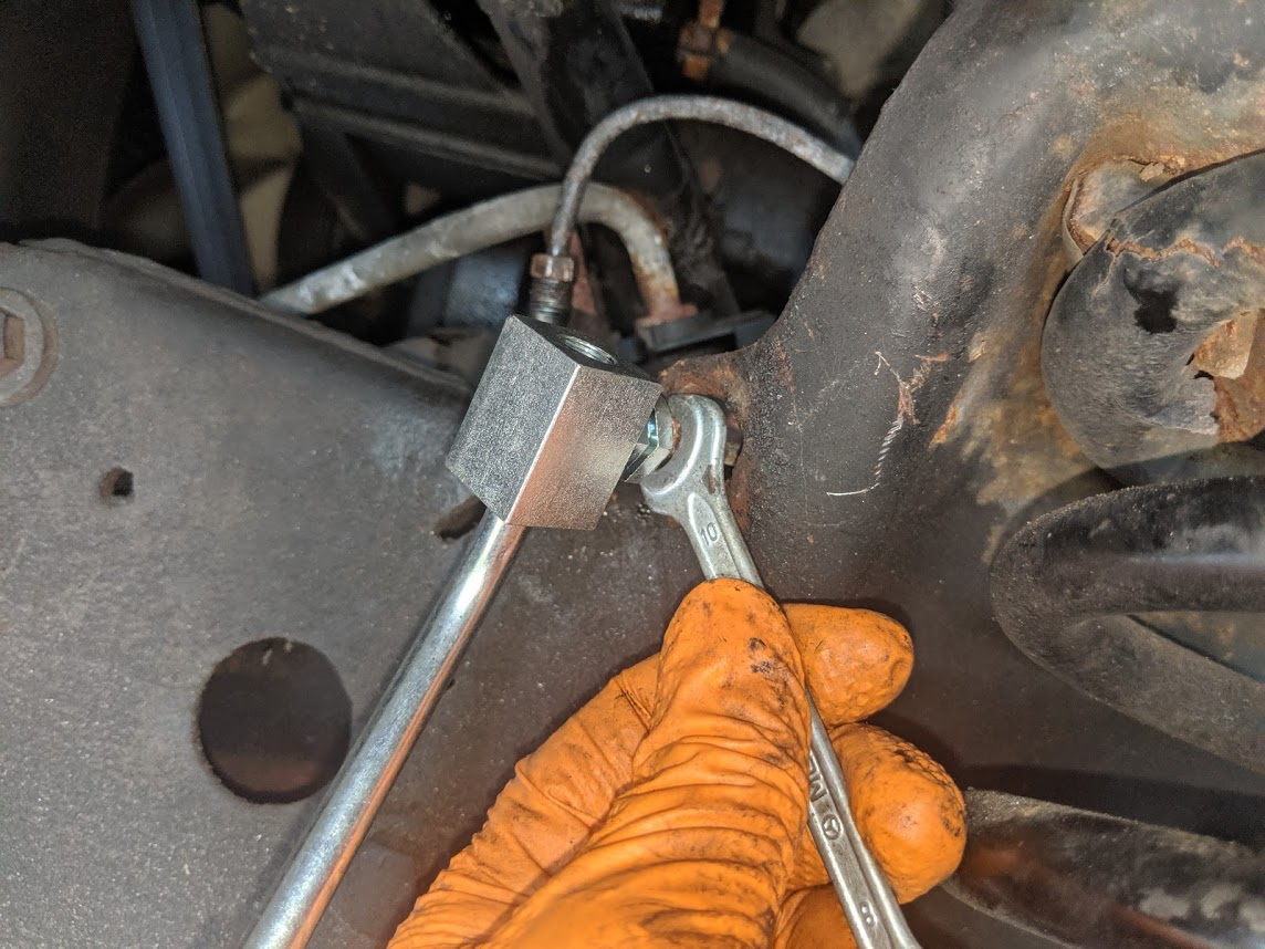 connect brake line to brake line Ford truck