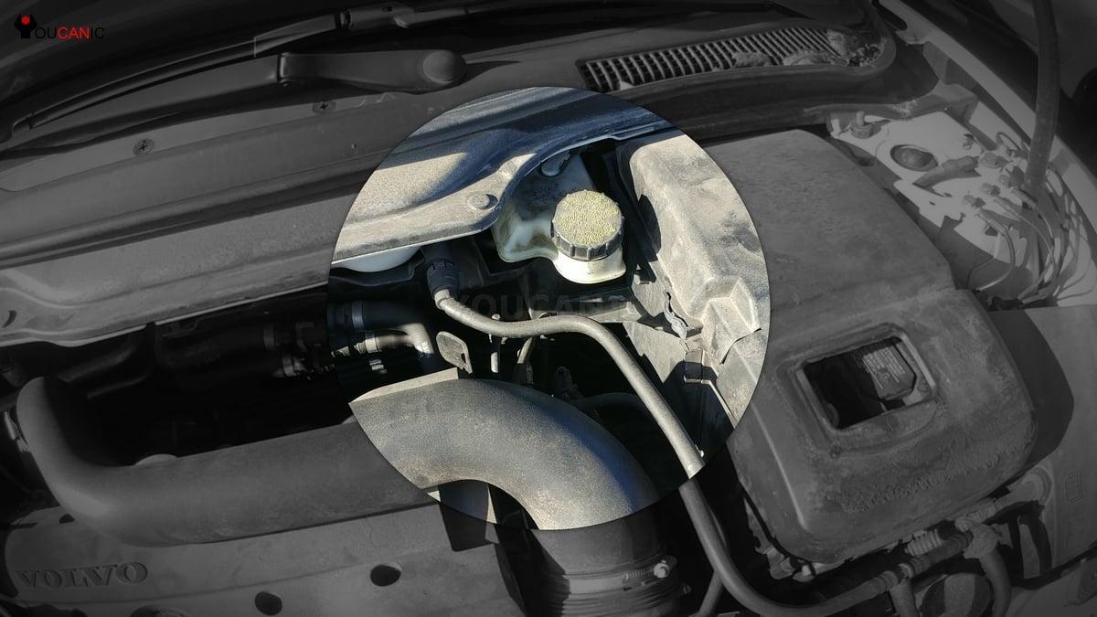 volvo brake fluid reservoir low brake fluid can trigger brake light