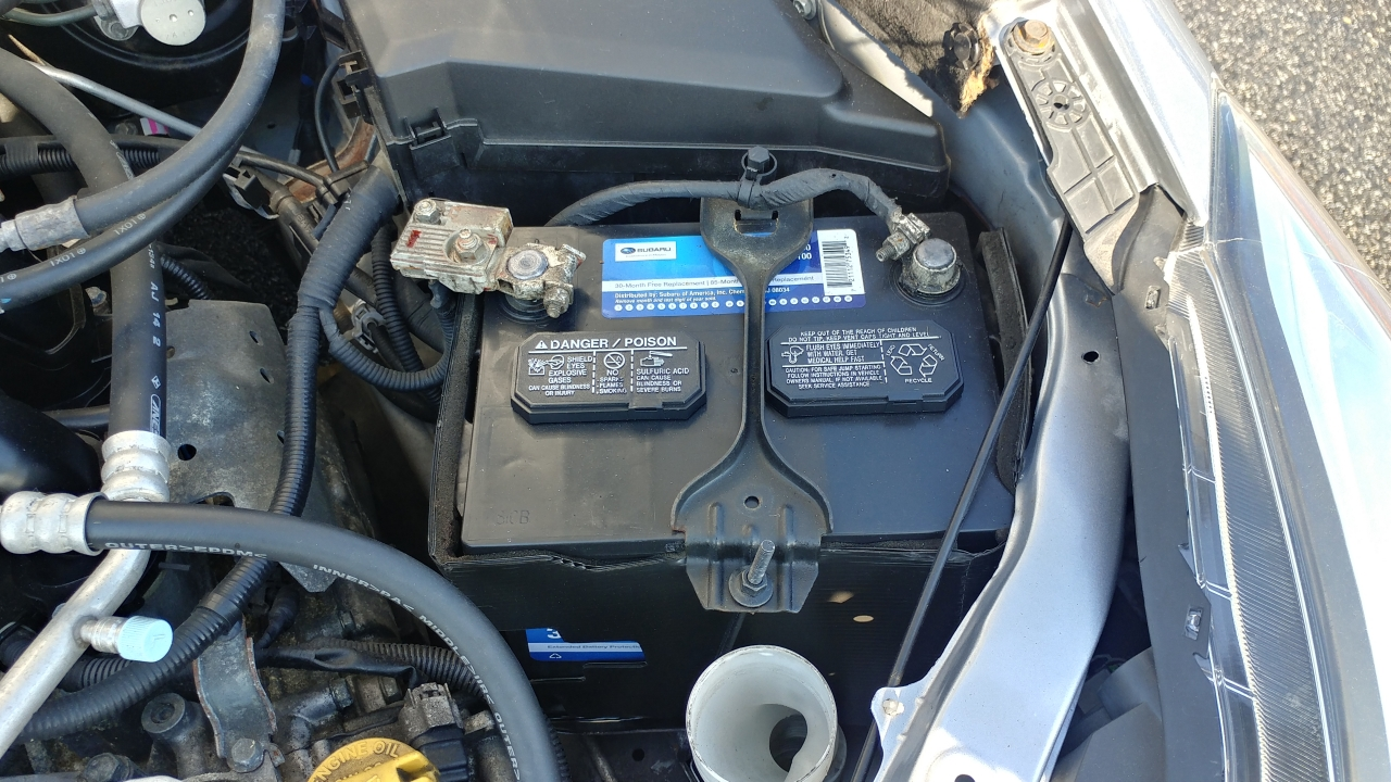 reset subaru check engine light by disconnecting the battery