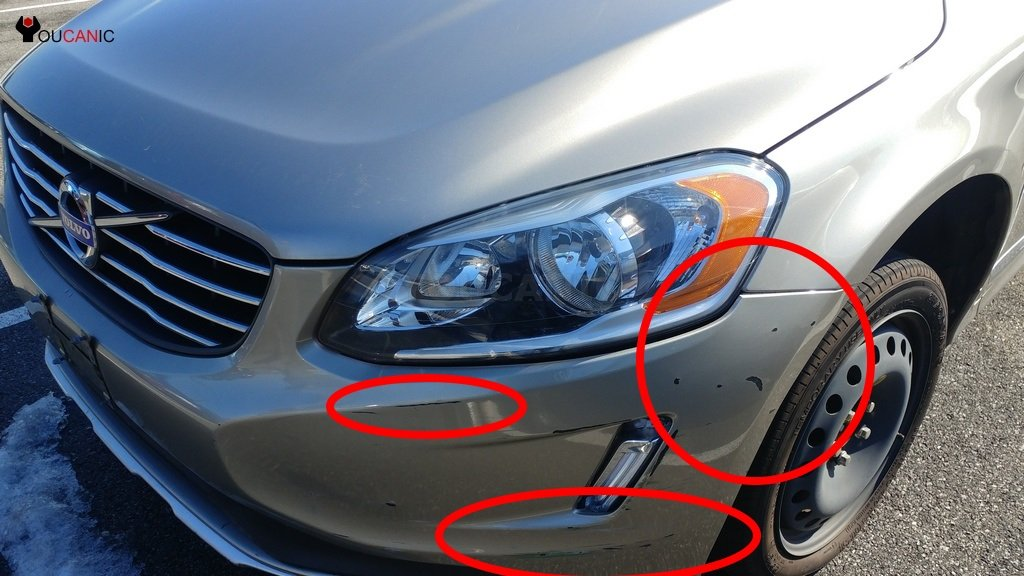 fix volvo  scratches