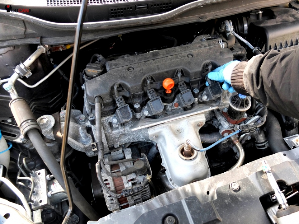 disconnect honda ignition coil