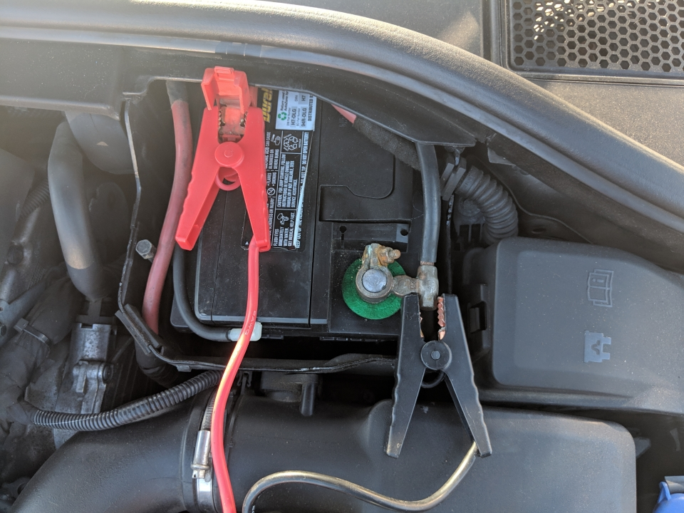 charge volvo battery to get rid of low battery warning