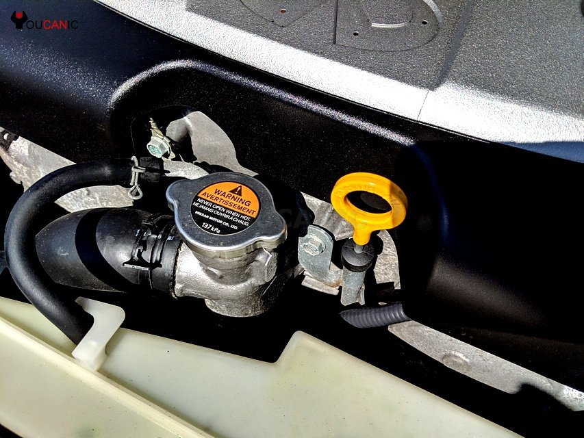 infinti check engien coolant and oil level