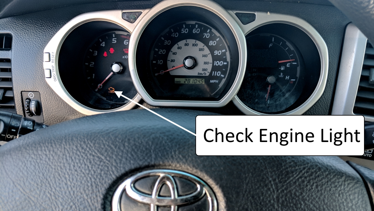 Check engine light Toyota