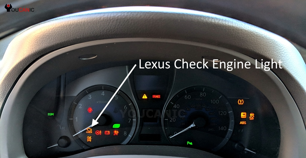 lexus check engine light