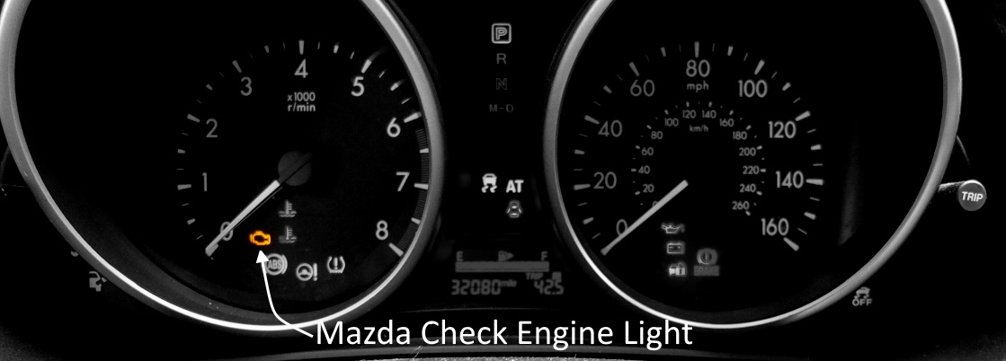 mazda check engine light