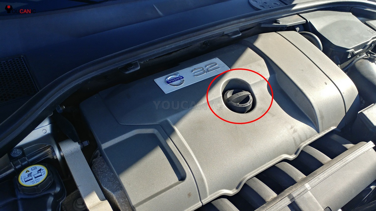 where to add volvo engien oil
