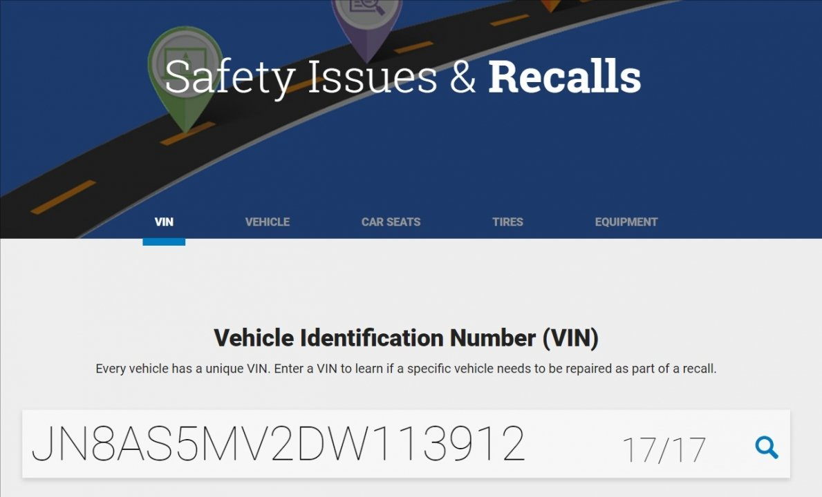 How to check Nissan transmission recalls