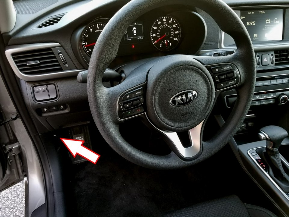 where to open kia hood