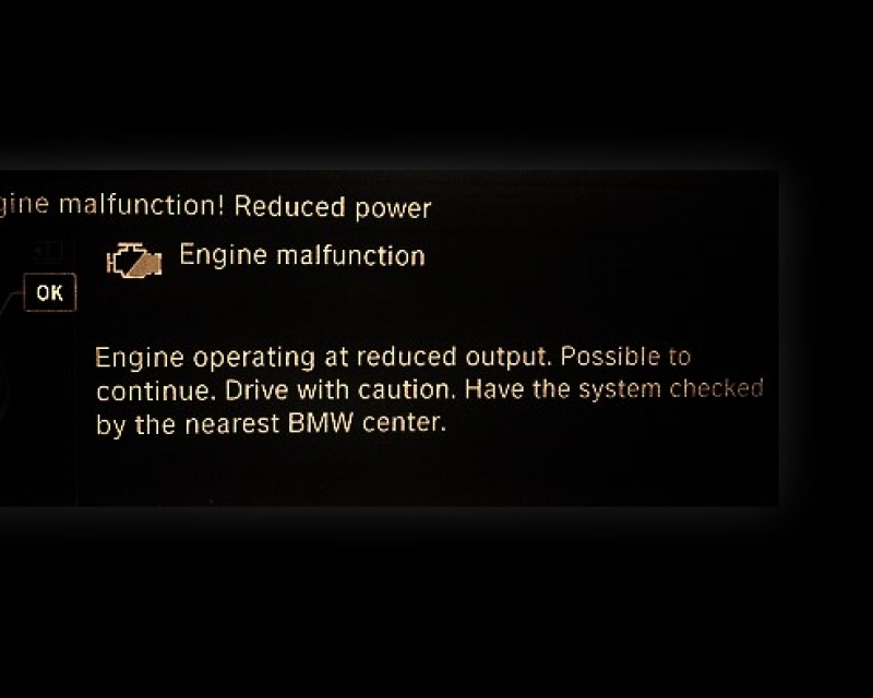 Bmw Engine Malfunction Reduced Power Causes
