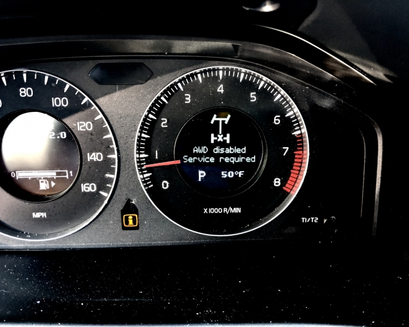 Volvo AWD disabled - Service required problem