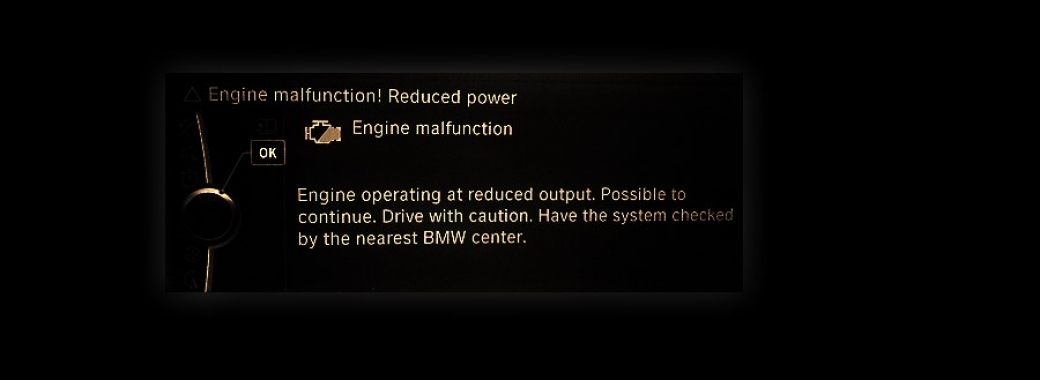 BMW Engine Malfunction Reduced Power | Causes