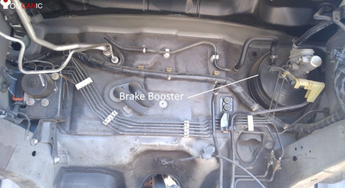 Hissing noise from brake pedal