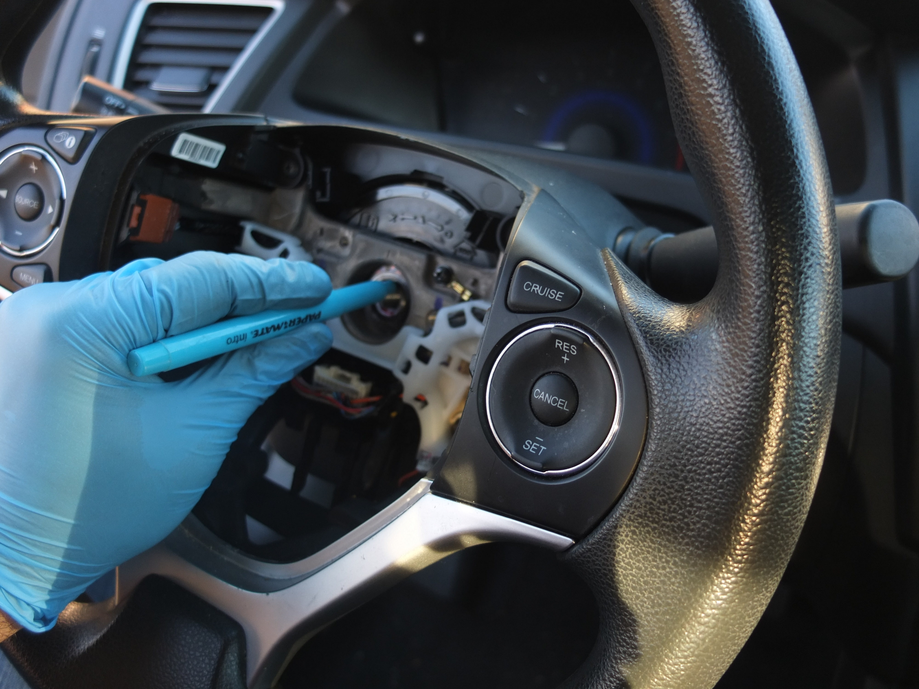How to remove and replace Honda Steering Wheel