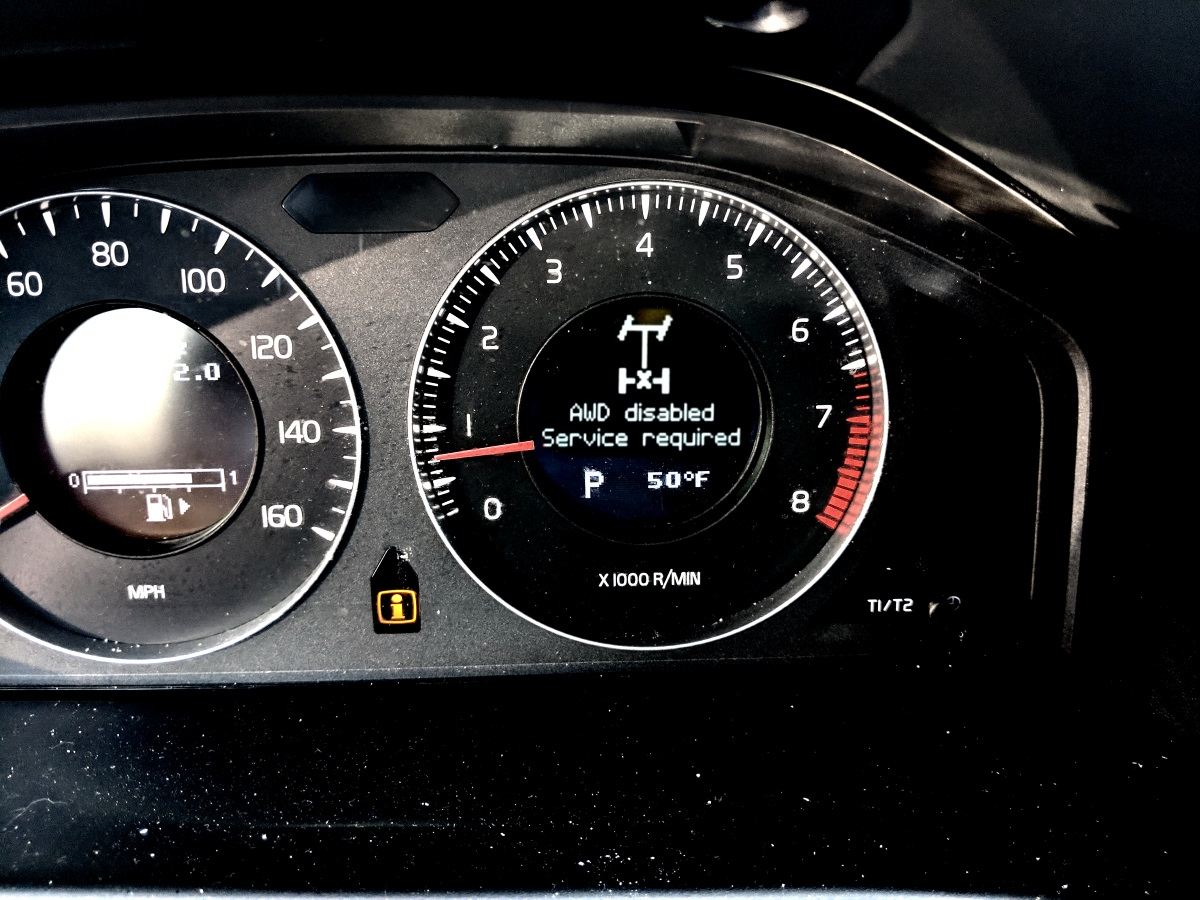 Understanding Volvo AWD disabled - Service required problem